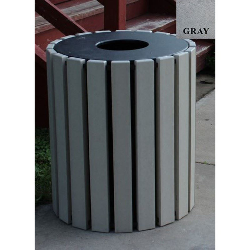 Picture of Round 33 gallon Plastic Receptacle