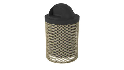 Picture of 32 Gallon Expanded Metal Trash Receptacle