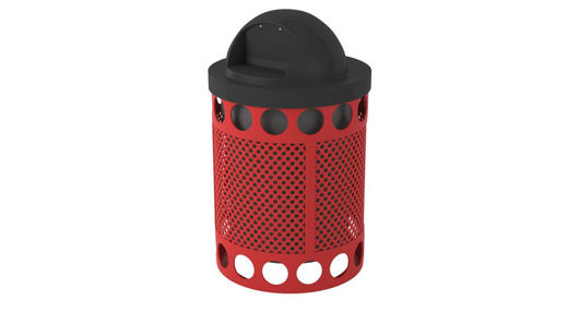 Picture of 32 Gallon Avenue Perforated Trash Receptacle