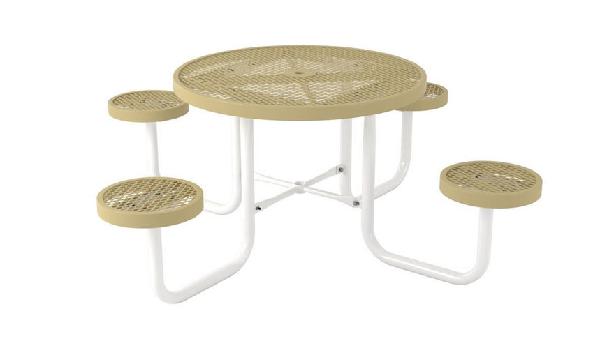 Picture of 42 in. Round Table with Seats Portable