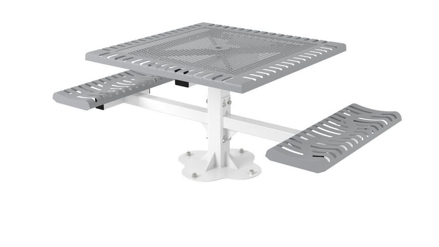 Picture of 46 in. Classic Ped Table - 2 Seats Surface Mount