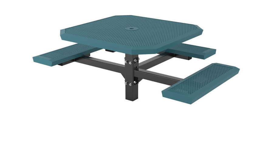 Picture of 46 in. Infinity Innovated Ped Table -3 seats In Ground Mount