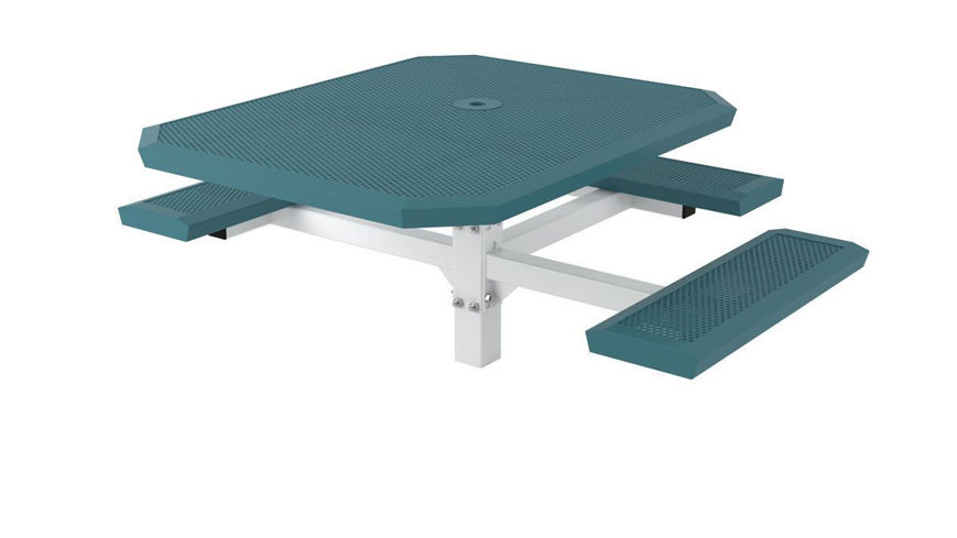 Picture of 46 in. Infinity Innovated Ped Table -3 seats In Ground Mount ADA
