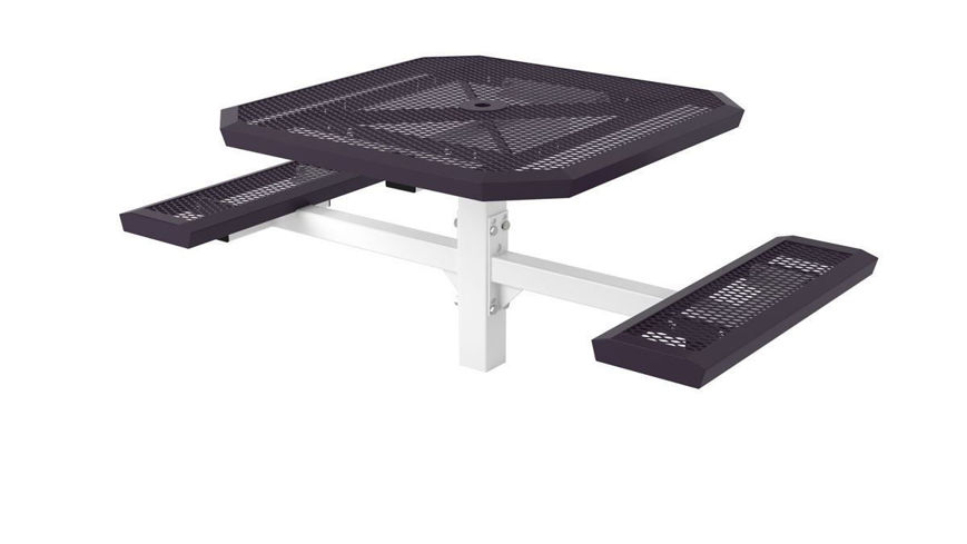Picture of 46 in. Infinity Style 2 Seat Pedestal Table In Ground Mount