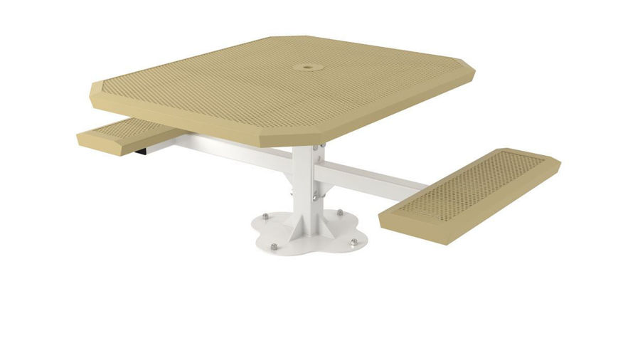 Picture of 46 in. Infinity Style Innovated Handicap 2 Seat Pedestal Table Surface Mount ADA
