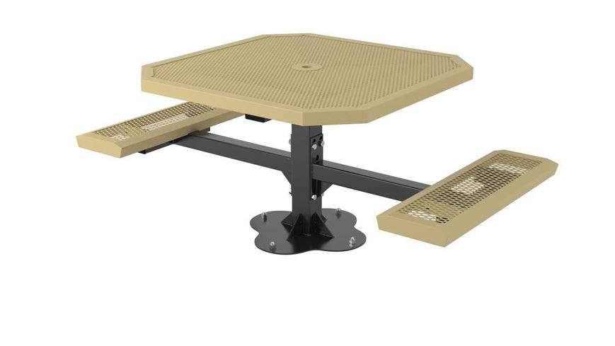 Picture of 46 in. Octagonal Innovated Pedestal Surface Mount Table - 2 Seat