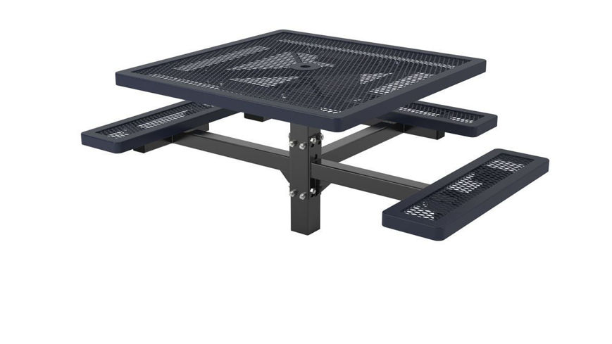 Picture of 46 in. Regal Style 3 Seat Pedestal Table In Ground Mount