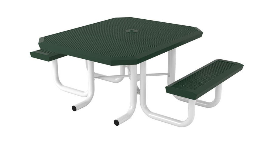 Picture of 46 in. Square Infinity Innovated Heavy Portable Table - 2 Seat ADA