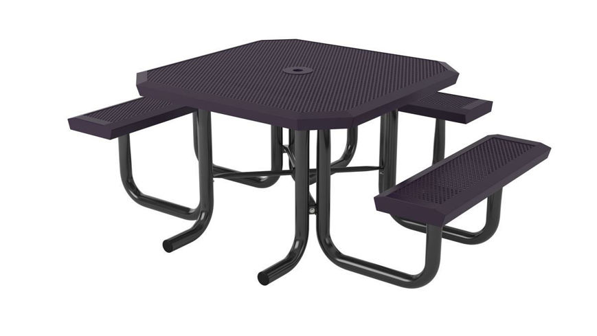 Picture of 46 in. Square Infinity Innovated Heavy Portable Table - 3 Seat