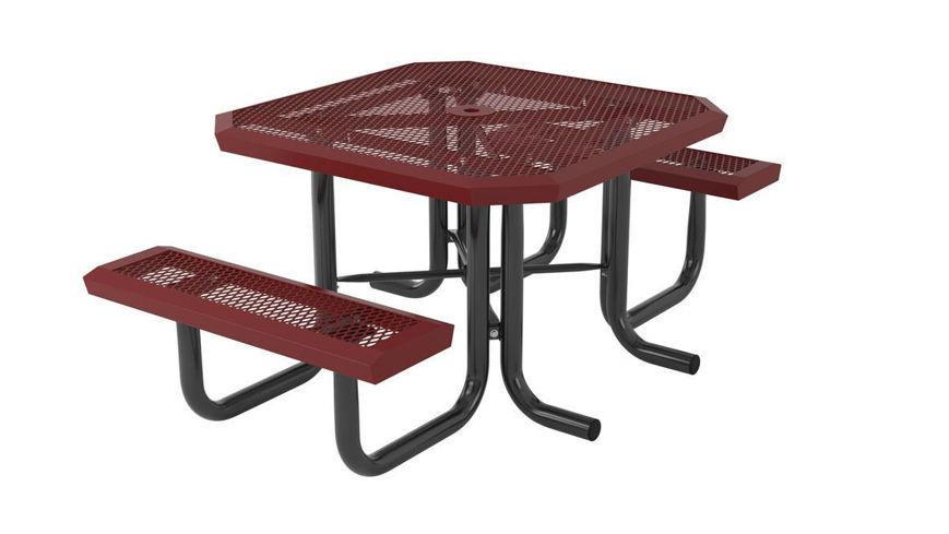 Picture of 46 in. Square Infinity Portable Heavy Table - 2 Seat
